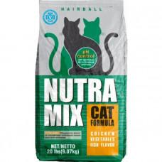 Nutra Mix Hairball корм для кошек с выводом шерсти 9.07 кг