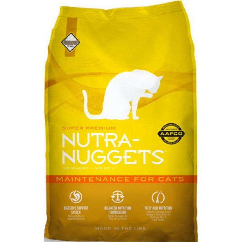 Nutra Nuggets (Нутра Наггетс) Maintenance Корм для кошек склонных к полноте с курицей