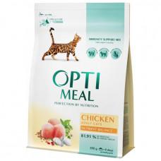 Корм для кошек OptiMeal (Оптимил) с курицей + подарок