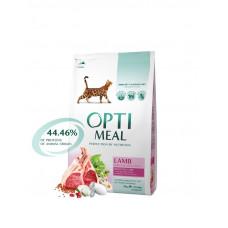OptiMeal (Оптимил) корм для кошек с ягненком 4 кг