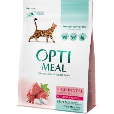 Optimeal (Оптимил) корм для кошек с телятиной 10 кг
