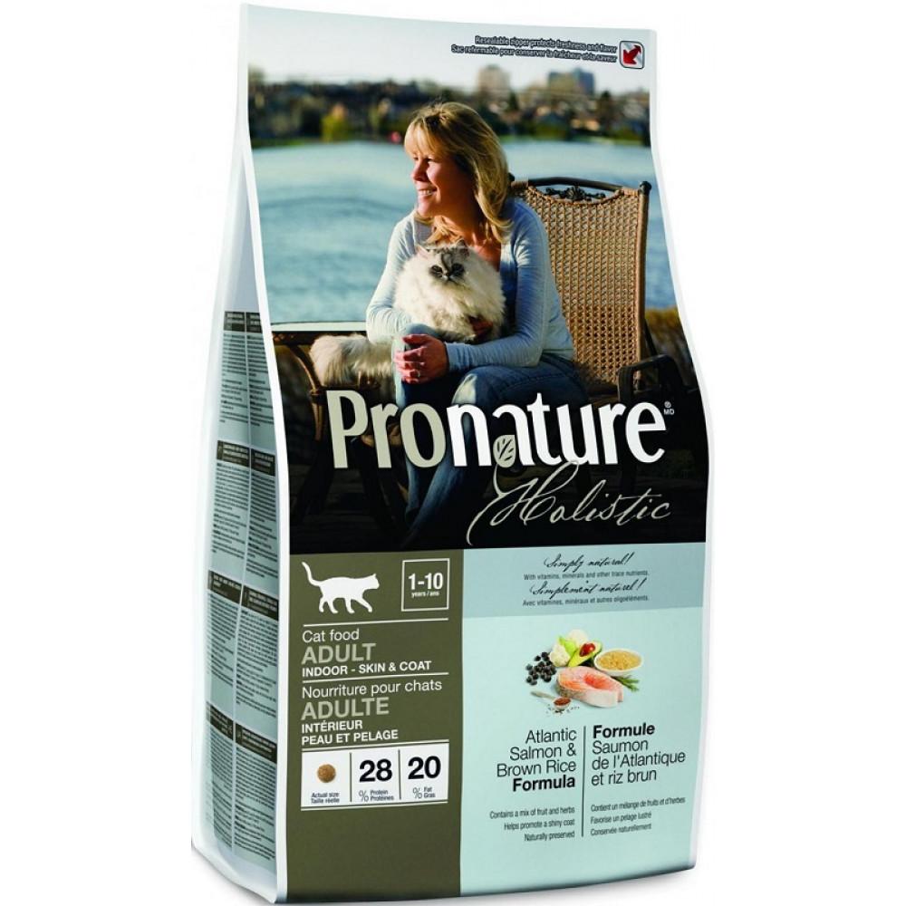 Pronature Holistic (Пронатюр Холистик) Корм для котов с лососем и коричневым рисом 5.44 кг