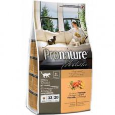 Pronature Holistic (Пронатюр Холистик) Корм для котов с уткой и апельсинами 5.44 кг
