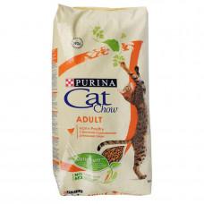 Purina Cat Chow Adult Сухой корм для кошек с курицей 15 кг