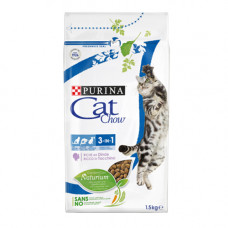 Purina Cat Chow Feline 3 in 1 Сухой корм для взрослых кошек (3в1) с индейкой