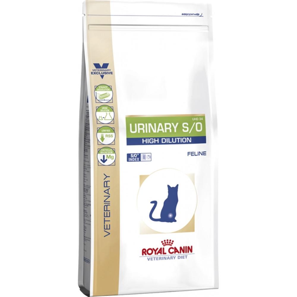 Royal Canin Urinary High Dilution при мочекаменной болезни