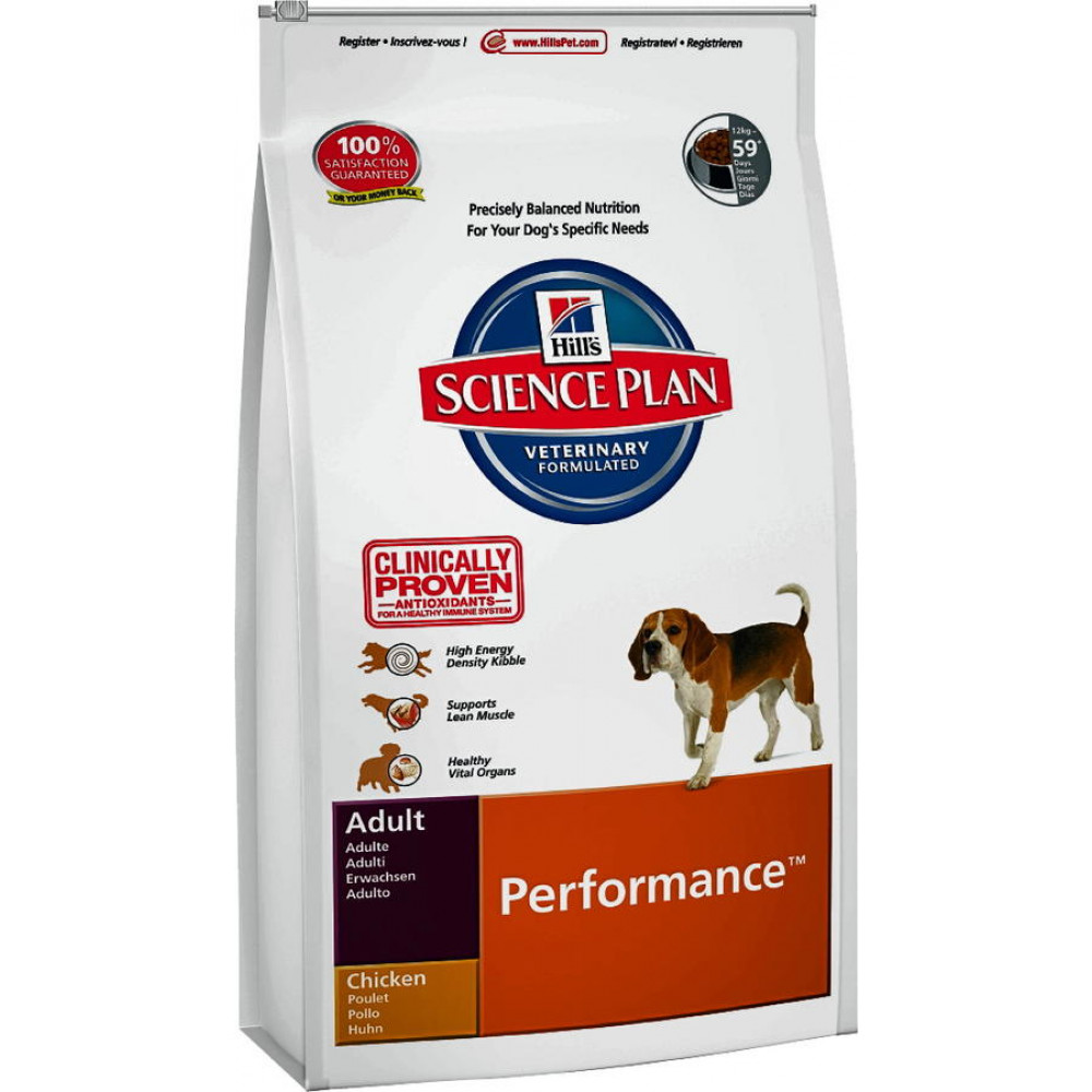 Hills Adult Performance корм для активных собак  с курицей 14 кг