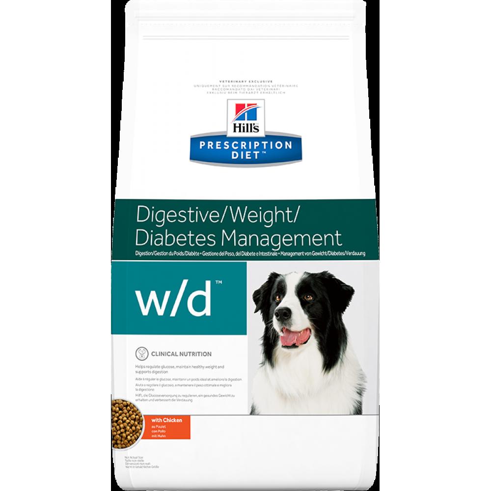 Hill's Prescription Diet Canine w/d при ожирении и диабете