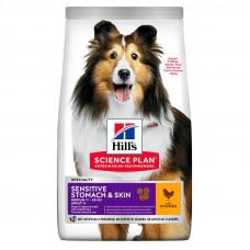Hill's Canine Adult Sensitive Stomach & Skin корм для собак для чувствительного пищеварения, кожи и шерсти
