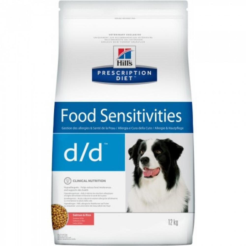 Hill's Prescription Diet Canine d/d для собак с лососем и рисом