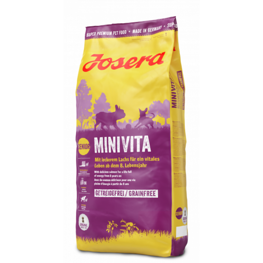 Josera Mini Vita корм для собак мелких пород 8+ с лососем 4.5 кг