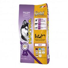 Natyka Gold для собак полувлажный корм с курицей 4.5 кг