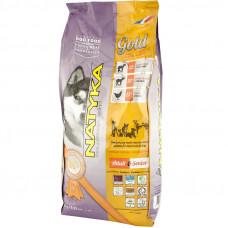 Natyka Gold для взрослых и пожилых собак полувлажный корм с ягненком 4.5 кг