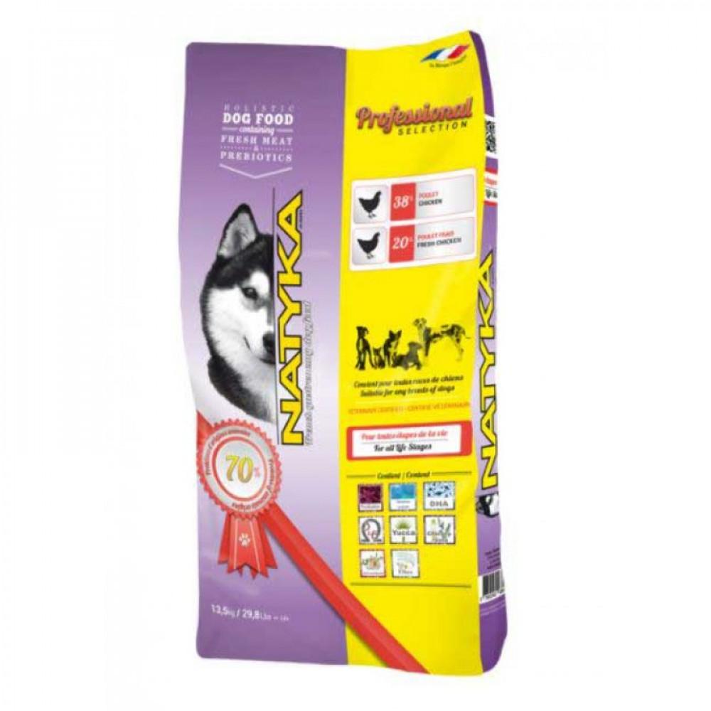 Natyka Professional для собак полувлажный корм с курицей 13.5 кг