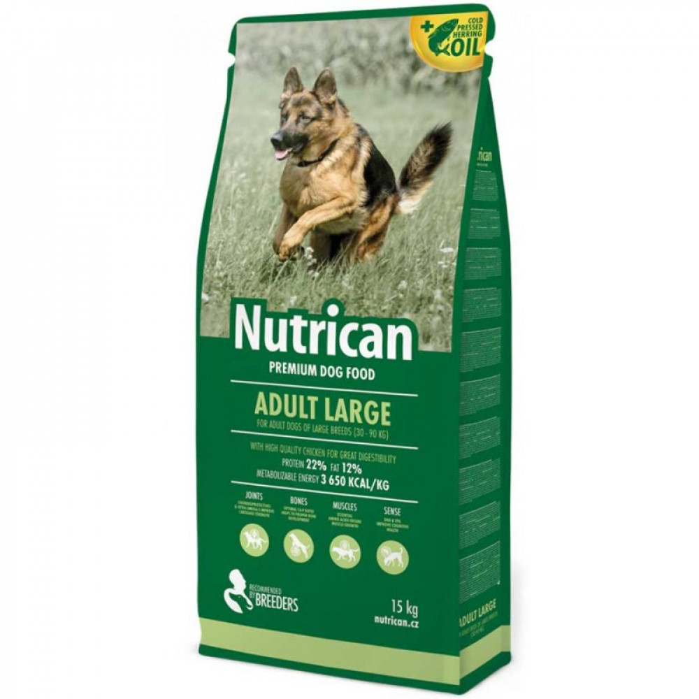 Nutrican Adult Large корм для крупных взрослых собак 15 кг