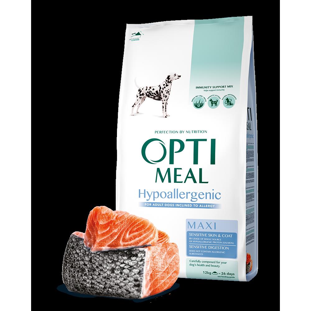 Optimeal Dog Adult Maxi Hypoallergenic корм для собак крупных пород Оптимил с лососем 12 кг