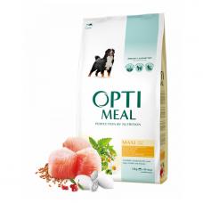 Optimeal Dog Adult Maxi корм для собак крупных пород Оптимил с курицей 12 кг