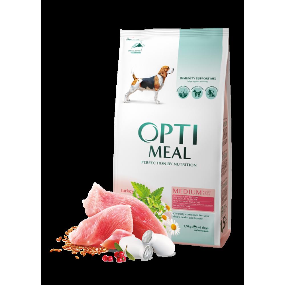 Optimeal Dog Adult Medium  корм для собак средних пород Оптимил с индейкой 12 кг