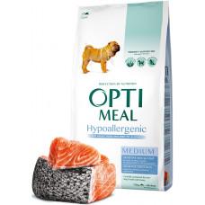 Optimeal Dog Adult Medium Hypoallergenic корм для собак средних пород Оптимил с лососем 12 кг