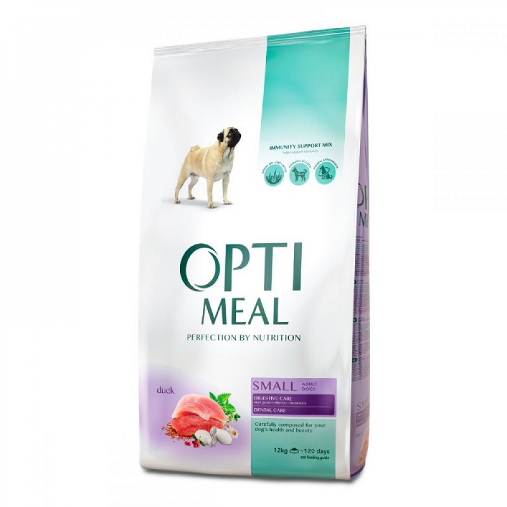 Optimeal Dog Adult Small корм для собак мелких пород Оптимил с уткой –12 кг