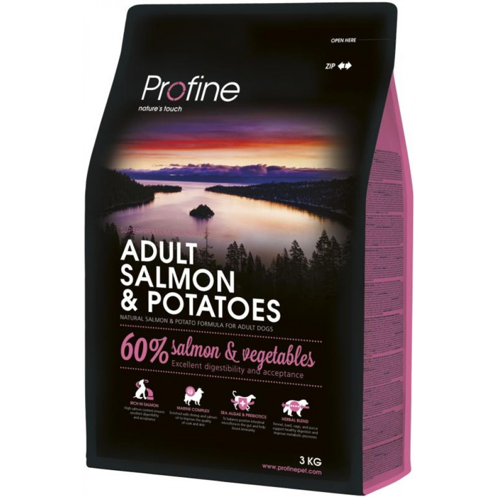 Profine Adult Salmon and Potatoes Сухой корм для собак с лососем и картофелем