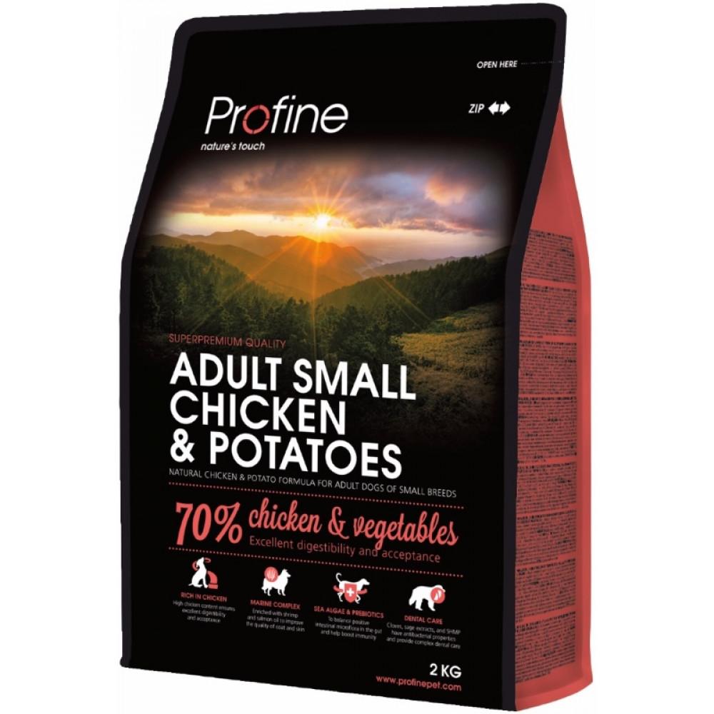 Profine Adult Small Chicken & Potatoes для собак малых пород с курицей и картофелем 2 кг