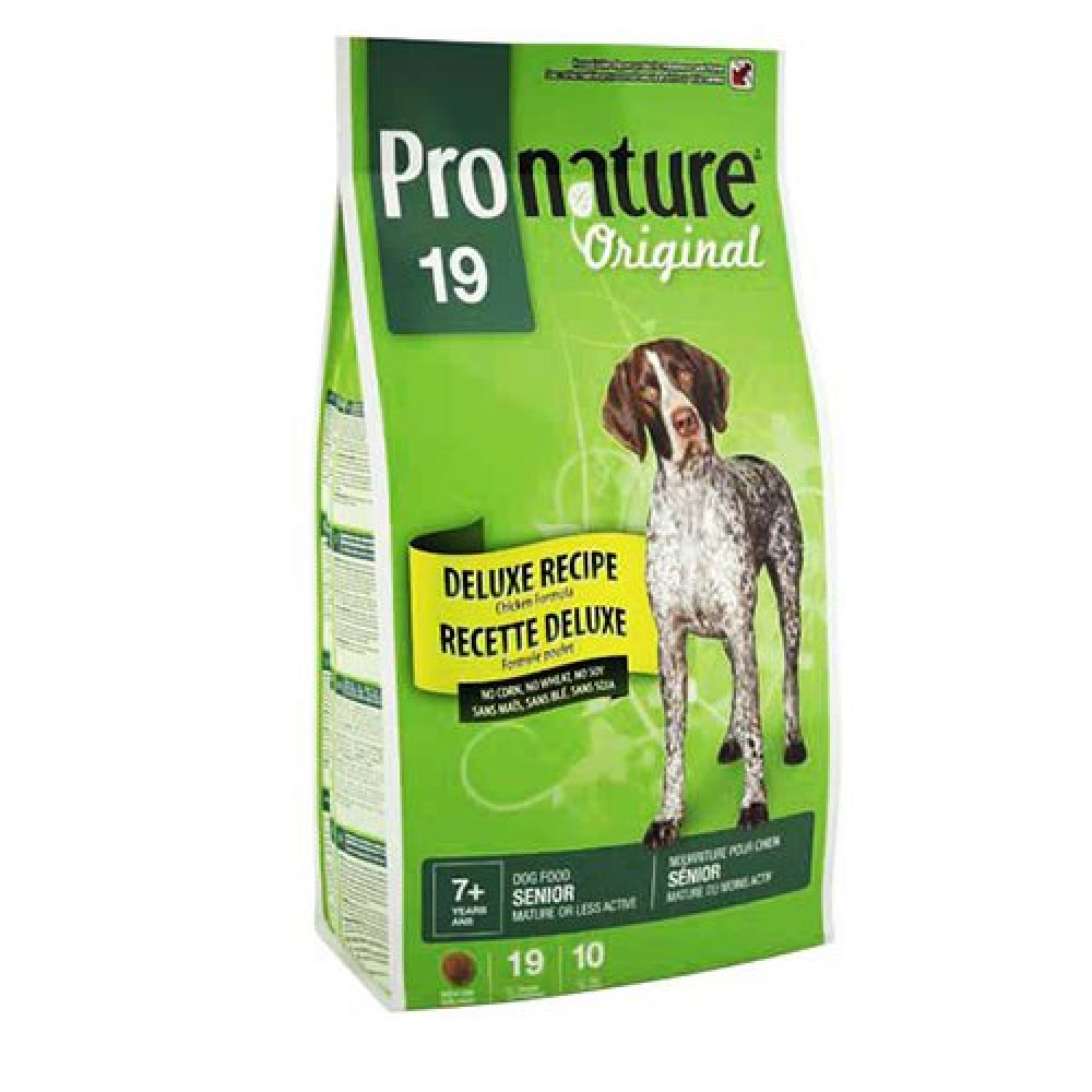Pronature 19 Original (Пронатюр) корм для пожилых собак Deluxe с курицей 15 кг