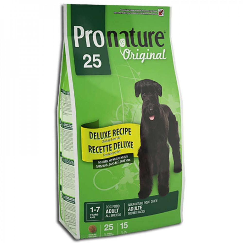 Pronature 25 Original (Пронатюр) Корм для собак Deluxe с курицей 15 кг