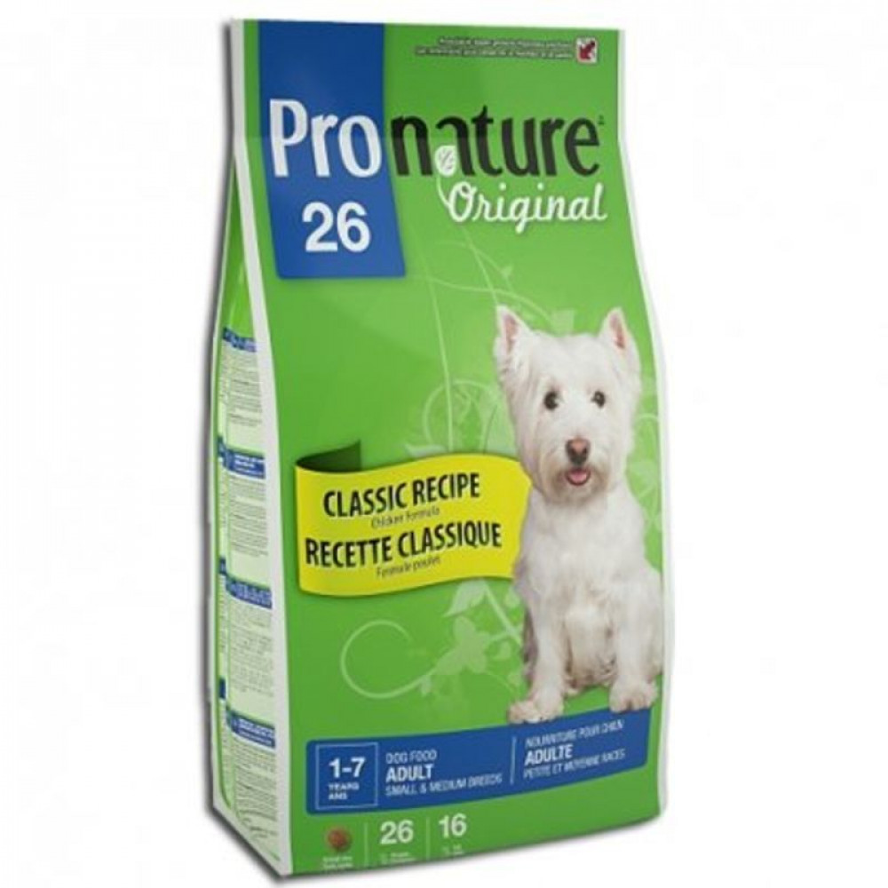 Pronature 26 Original (Пронатюр) для собак мелких и средних пород с курицей 7.5 кг