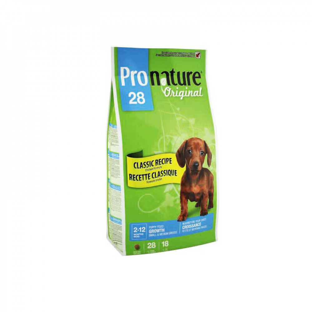 Pronature 28 Original (Пронатюр) корм для щенков мелких и средних пород с курицей 15 кг