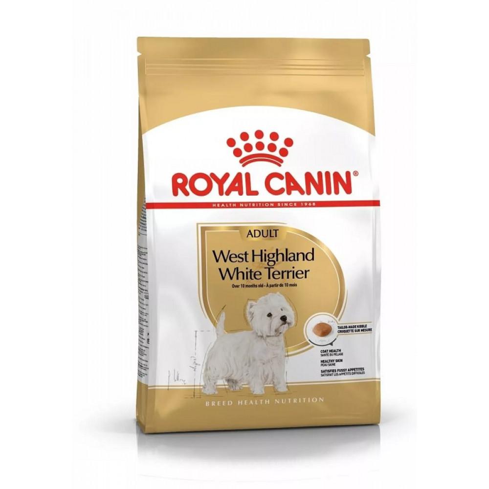 Royal Canin West Highland White Terrier корм для вест хайленд с 10 мес 3 кг