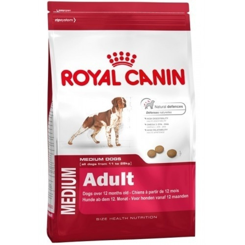 Royal Canin Medium Adult корм для собак средних пород с 12 мес с птицей