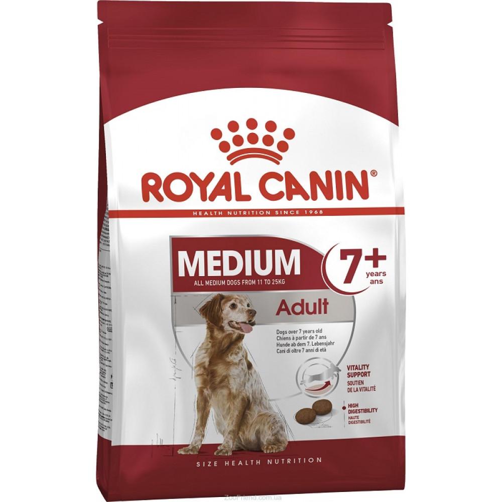Корм Royal Canin Adult 7+ для пожилых собак средних пород