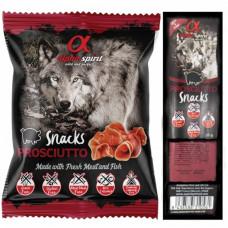 Alpha Spirit Dog Snacks Prosciutto полувлажные лакомства из прошуто, кубики