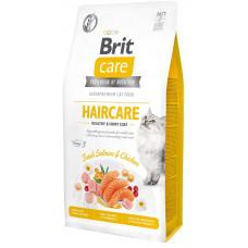 Сухой корм для кошек, требующих ухода за кожей и шерстью Brit Care Cat GF Haircare Healthy & Shiny Coat