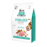 Сухой корм для стерилизованных котов Brit Care Cat GF Sterilized Urinary Health