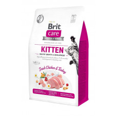 Сухой корм для котят, для здорового роста и развития Brit Care Cat GF Kitten HGrowth & Developmen