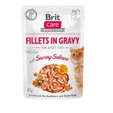 Brit Care Cat pouch филе в соусе пикантный лосось 85г