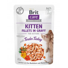 Brit Care Cat pouch филе в соусе нежная индейка для котят 85г