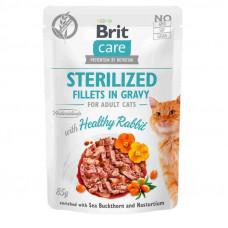 Brit Care Cat pouch филе в соусе кролик для стерилизованных кошек 85г