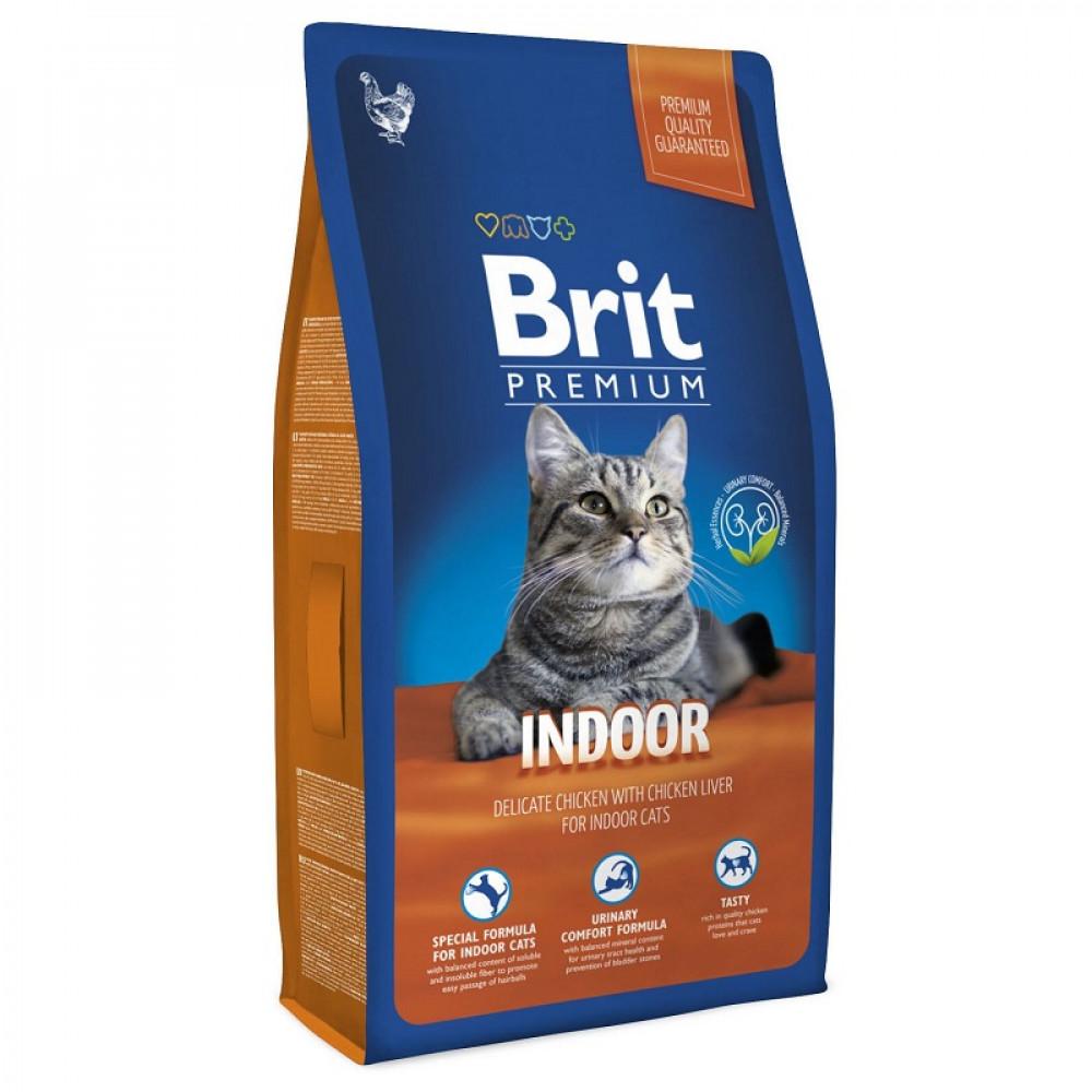 Сухой корм для кошек, живущих в помещении Brit Premium Cat Indoor 8кг