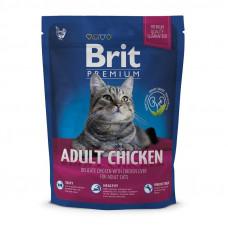 Сухой корм для кошек с курицей Brit Premium Cat Adult Chicken