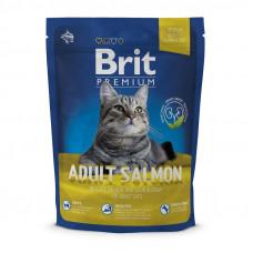 Сухий корм для кошек с лососем Brit Premium Cat Adult Salmon