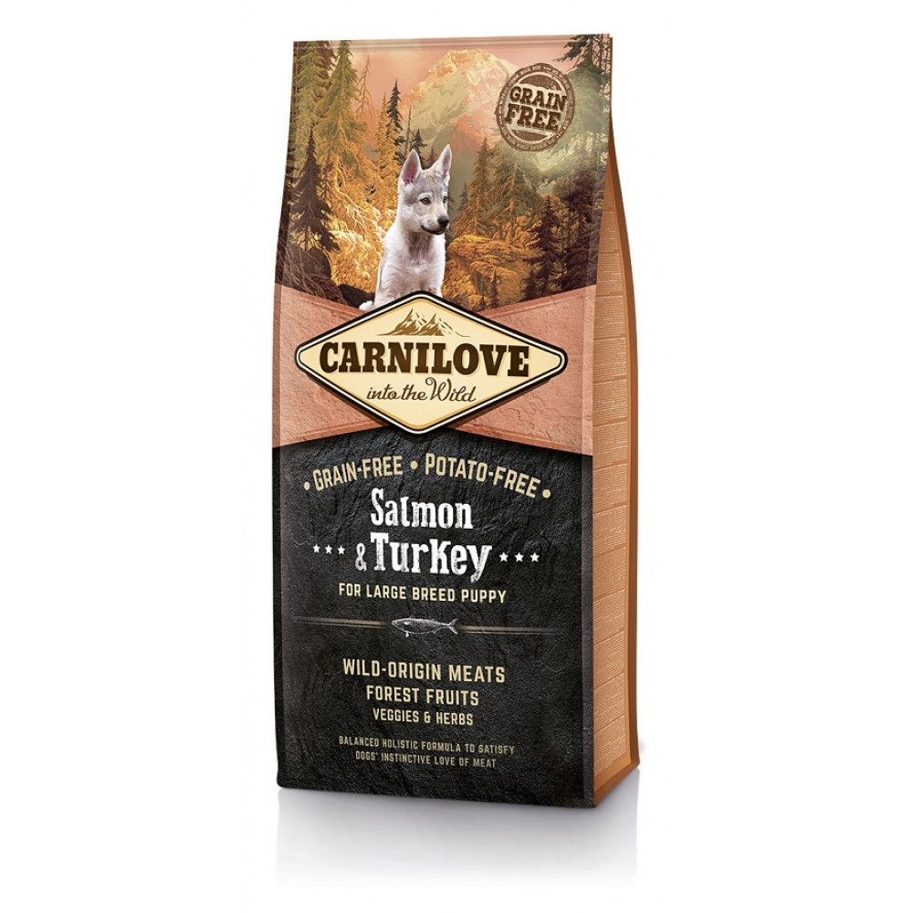 Carnilove Puppy Large Breed Salmon & Turkey беззерновой корм для щенков крупных пород