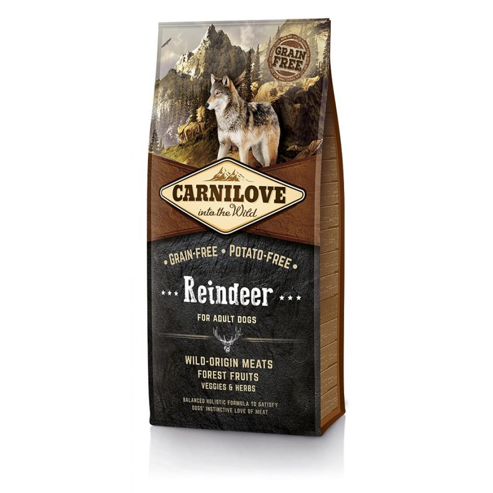 Carnilove Raindeer беззерновой корм для взрослых собак с олениной и мясом дикого кабана
