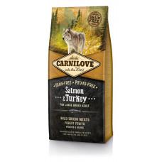 Carnilove Salmon & Turkey Large Breed беззерновой корм для взрослых собак крупных пород с лососем и индейкой