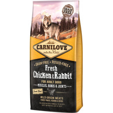 Carnilove Fresh Chicken & Rabbit беззерновой корм для взрослых собак с курицей и кроликом