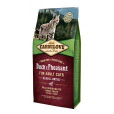 Carnilove Cat Duck & Pheasant - Hairball Controll сухой корм для кошек с вывода шерсти утка, фазан