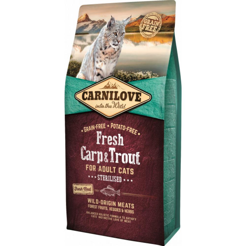 Carnilove Fresh Carp & Trout – Sterilised сухой корм для стерилизованных кошек свежий карп, форель
