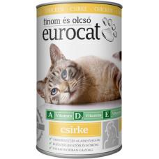 EuroCat консервы для кошек со вкусом курицы 415г